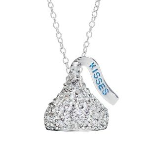 HERSHEY KISS Sterling Silver Crystal Necklace